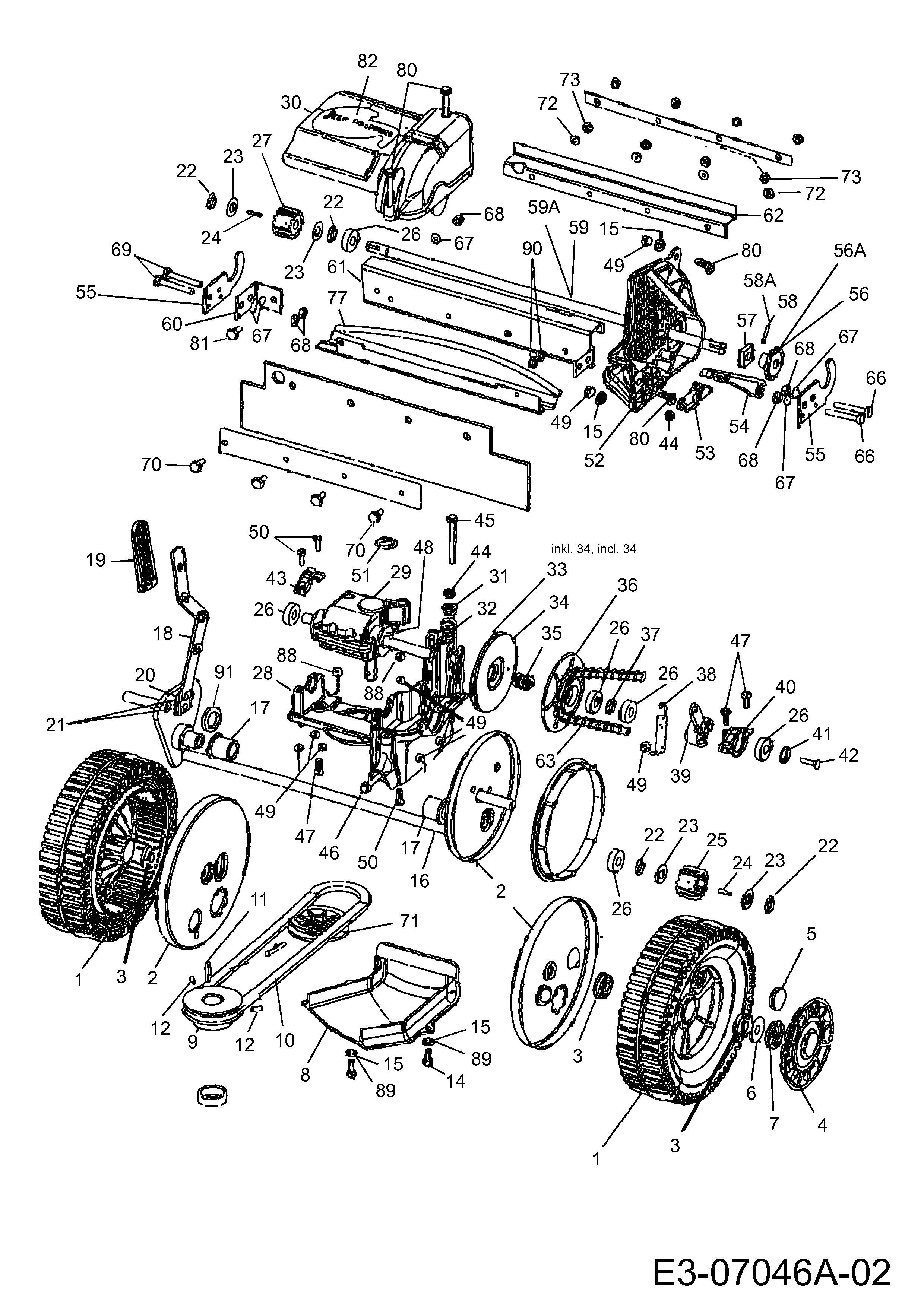 Mtd014408 Gear Box Rear Wheels
