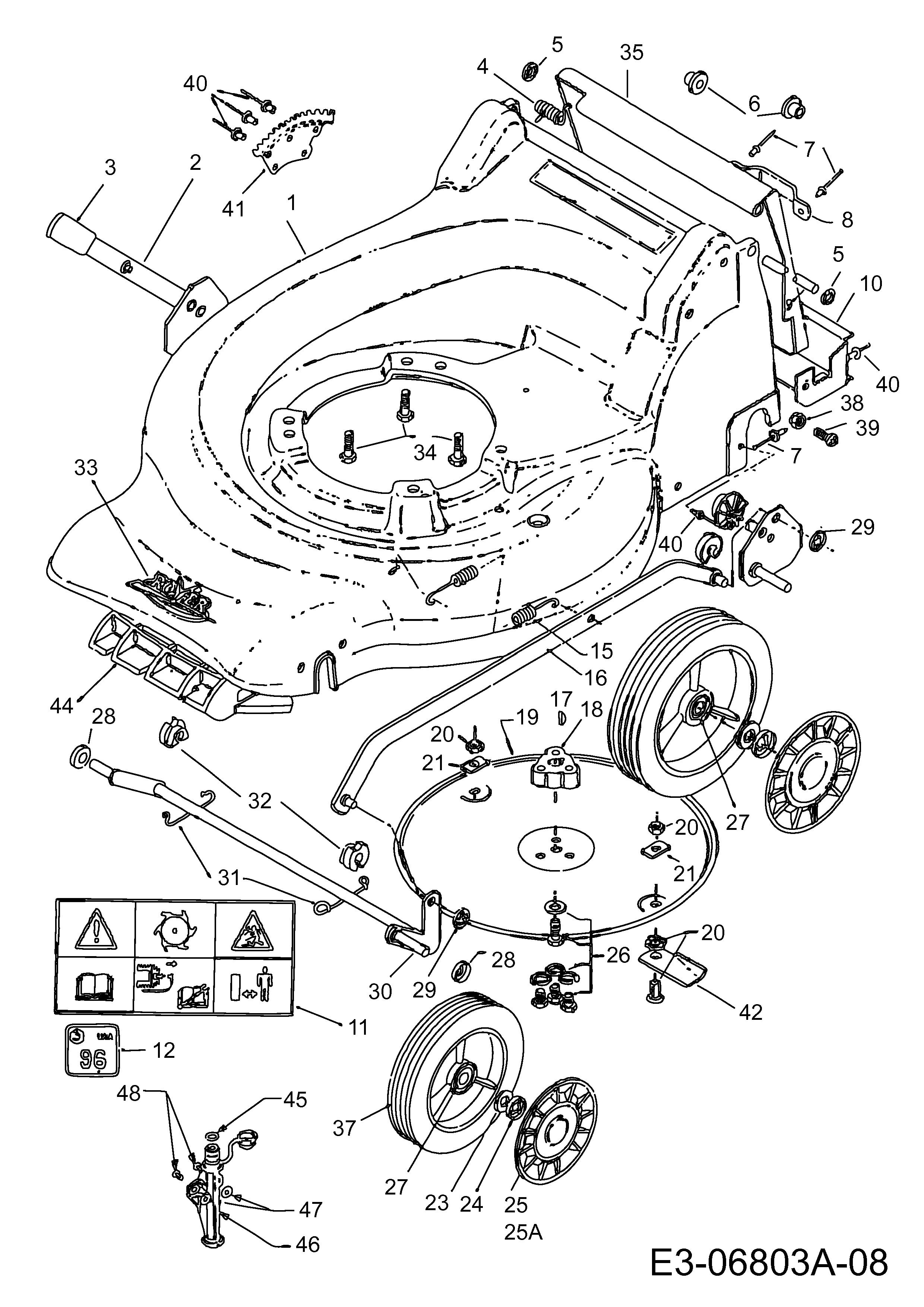 self propelled lawn mower parts